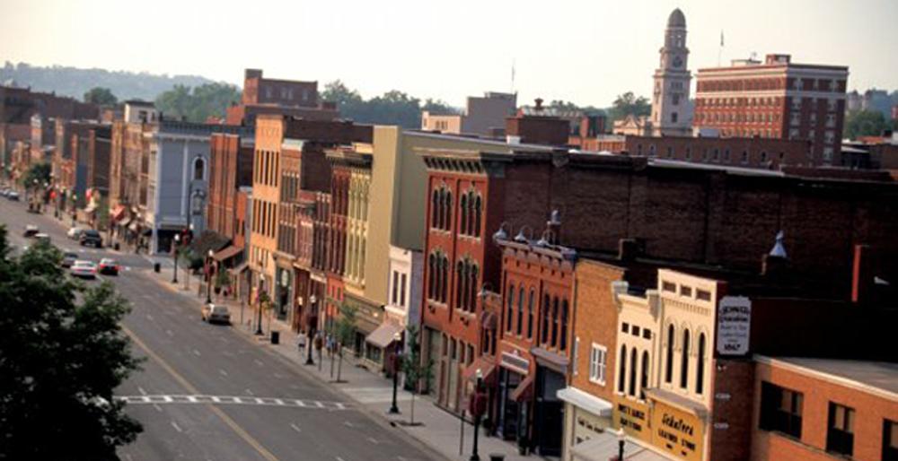Ohio, Marietta, Front Street, Historic Ohio River Town